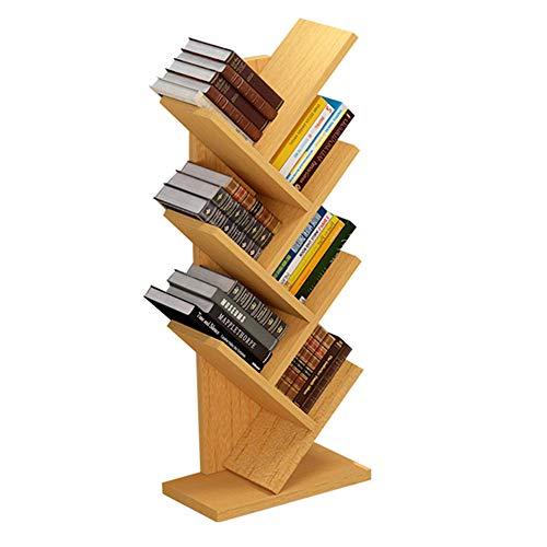 Regale CAICOLOUR 6-Tier Bücherregal Bambus Bücherregal Display-ständer Lagerung Schrank CD Kinder Bücherregal (Farbe : Gelb)