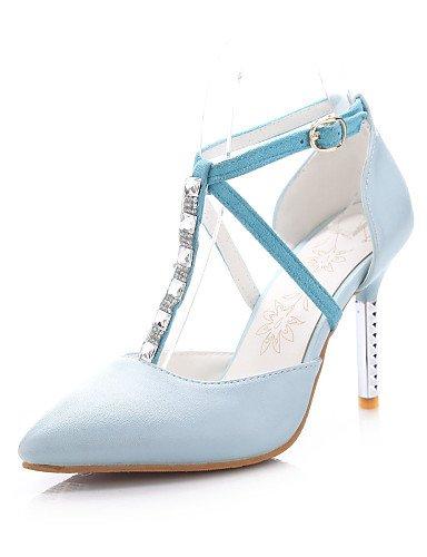 WSS 2016 Chaussures Femme-Bureau & Travail / Décontracté-Bleu / Rose / Blanc-Talon Aiguille-Talons / Bout Pointu-Talons-Polyuréthane white-us5 / eu35 / uk3 / cn34