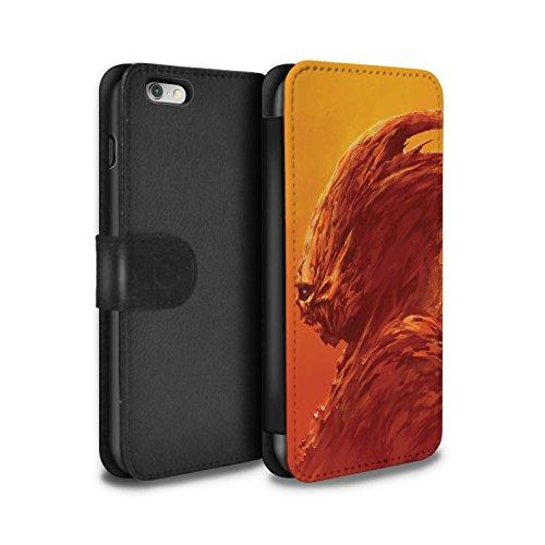 Offiziell Chris Cold PU-Leder Hülle/Case/Tasche/Cover für Apple iPhone 6+/Plus 5.5 / Vampirfledermaus Muster / Wilden Kreaturen Kollektion Raubtier/Jäger