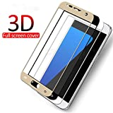 PmseK Protector de Pantalla,Vidrio Templado,3D Protective Glass On The For S7 A3 A5 A7 Tempered Glass For J3 J5 J7 Cristal Templado Film For Samsung J3 2016 Gold