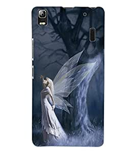 ColourCraft Angel Design Back Case Cover for LENOVO A7000 PLUS