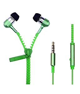 JYARA In Ear Zipper Earphone with feature of Amazing Sound   Attractive look   Feet Taping Music sound    Premium Look  3.5 mm Jack   Super Soround Sound    Headphone    Earbuds    headset    with Mic   Compatible with all your Spice M-5396