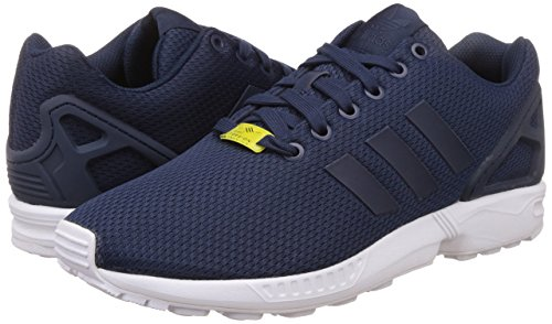 adidas Originals ZX Flux, Herren Sneakers, Blau (Dark Blue/Dark Blue/Core White), 44 EU (9.5 Herren UK)