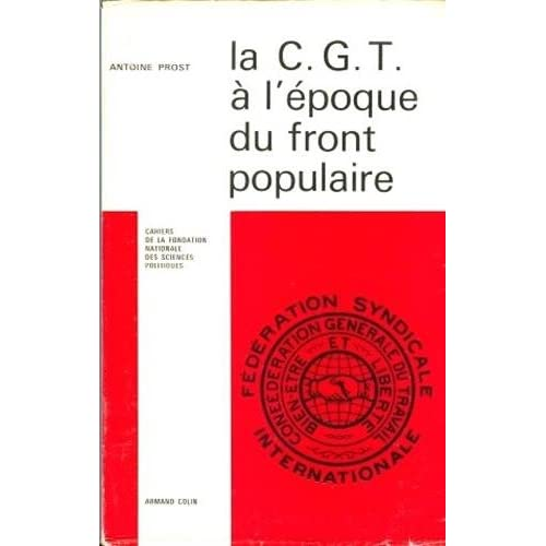 La CGT à l'époque du Front populaire