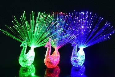 ED Finger Licht LED-Fingerlichter Bunt Leuchtringe Pfau Kugelfisch Goldfisch Finger Spielzeug für Geburtstag Party, Musikfestival, Allerheiligen, Weihnachts, Hochzeit Dekoration ()
