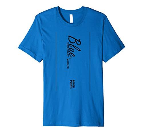 Blau Marker Stil Halloween-Kostüm T-Shirt