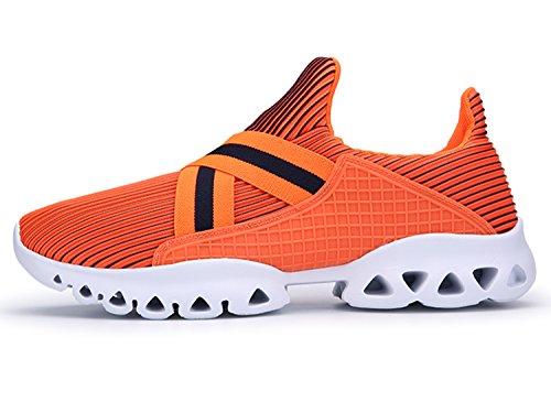 IIIIS-R Herren Damen Straßenlaufschuhe Laufschuhe Walkingschuhe Leichtathletikschuhe Fitnessschuhe Unisex Orange