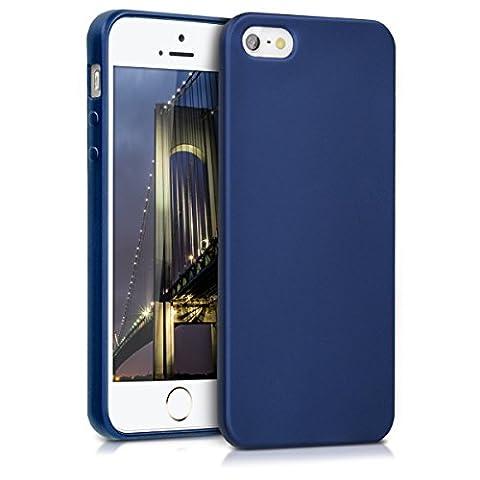kwmobile Hülle für Apple iPhone SE / 5 / 5S - TPU Silikon Backcover Case Handy Schutzhülle - Cover Metallic