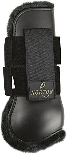Guêtres ouvertes NORTON 'Confort' - coque noir, mouton synthétique noir - Taille poney