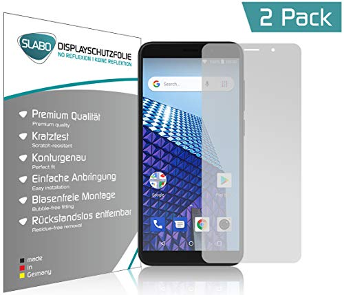 Slabo 4 x Bildschirmschutzfolie für Archos Access 57 Bildschirmfolie Schutzfolie Folie Zubehör (verkleinerte Folien, aufgr& der Wölbung des Bildschirms) No Reflexion MATT - entspiegelnd Made IN Germany