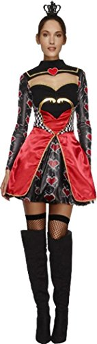 Damen Königin Der Herzen Kostüm Damen Fairytale Outfit Sexy Fever Fancy Kleid Gr. UK Kleid 36, (Kleid Fairytale Kostüme)