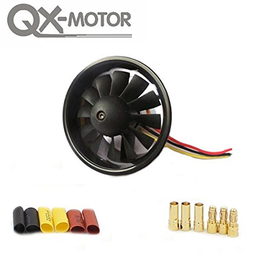 PhilMat QX-Motor 64mm 12 Blades Ducted Fan With 3500KV 3-4S QF2822  Brushless Motor