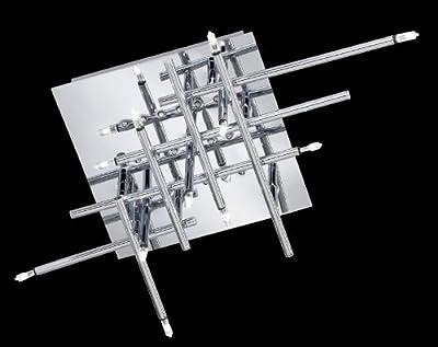 Reality Leuchten R62081106 Niedervolt/LED-Deckenleuchte, inkl. 18x LED/11x G4, 4-fach schaltbar, in chrom von Reality Leuchten GmbH bei Lampenhans.de