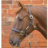 Hy - Cavezza in pelle, Marrone (marrone), Pony