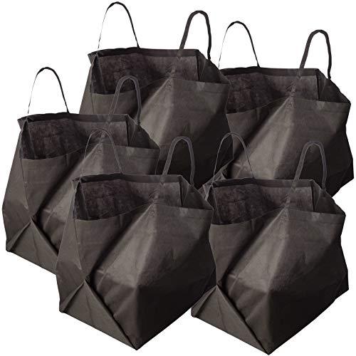 Homyl Premium Selbststehend und Faltbar Laubsäcke Gartenabfallsack Gartensäcke Gartenabfallsäcke aus Plastik 60 Liter Abfall & Recycling