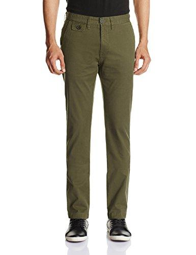 Pepe Jeans Men's Chamonix Skinny Fit Trousers (Olive) (8903872365760)