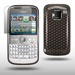 NOKIA E5 BLACK GEL COVER CASE WITH SCREEN PROTECTOR BY CELLAPOD CASES