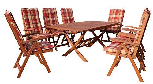 GRASEKAMP Qualität seit 1972 Gartenmöbel Set 17tlg Terrassenmöbel Santos Sunshine