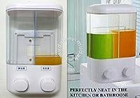 Sevia ABS Plastic Liquid Twin Head Touch Soap Dispenser Shower Lotion, Gel, Conditioner, Liquid Shampoo Pump Mirror Finish