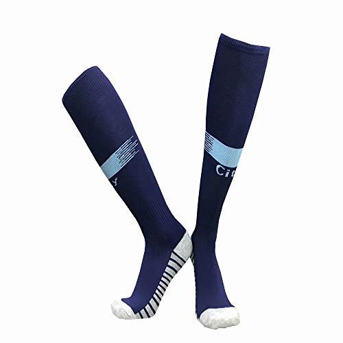 LDQLSQ Kindersocken Schüler neuen Club Slip Outdoor Football Socks Gruppe kaufen Lange Tube über die Knie Sports Training Socks Jugend Fußball-Socken Outdoor Sport,Blue