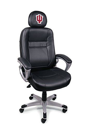 Wild Sports College Leder Bürostuhl, Indiana Hoosiers Leather Head Coach Office Chair, schwarz, Office Chair