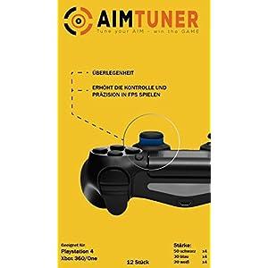 AimTuner StarterSet 12 Schaumstoff Ringe zur Verbesserung deiner Zielsicherheit Aim Assistance Stossdämpfer Zielhilfe Analogstick Stoßdämpfer