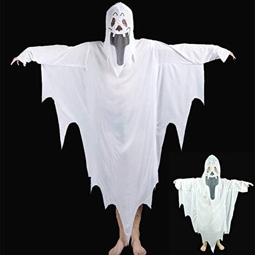 GUAN Halloween Ghosts Horror Kostüme Weiße Geister Ghost Kostüme Teufel Weiße Vergänglichkeit (Teuflisch Teufel Kostüm)