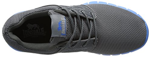 Lonsdale Sivas - Chaussures de Running Compétition - Homme Gris (Gris/bleu)