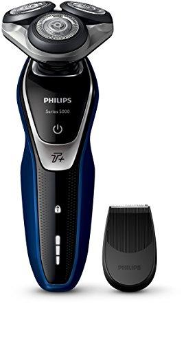 Philips SHAVER Series 5000 S5572/06 Máquina de afeitar de rotación Recortadora Negro, Azul, Plata - Afeitadora (Máquina de afeitar de rotación, SH50, 2 año(s), Negro, Azul, Plata, LED, Batería)