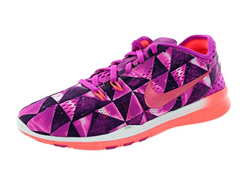 Nike - Nike Free 5.0 Wmns Tr Fit 5 Prt Scarpe Sportive Nere Verdi Tela 704695 Fchs Flsh/Ht Lv/Fchs Glw/White
