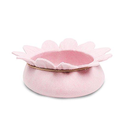 FACAIG Luxury Handmade Blumenförmigen fühlte Katze Bett Nest