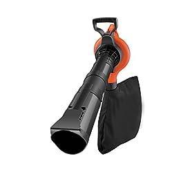 BLACK+DECKER GW3030-QS Aspirateur, Souffleur, Broyeur de feuilles filaire – Volume d'aspiration : 14 m3/min – Capacité : 50 L – 1 embout concentrateur et 1 sangle 3000W, Rouge/Noir,
