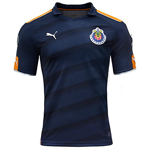 Puma Navy Blue/Orange Chivas De Guadalajara Third Soccer 2017 Jersey, Youth X-Large (Jersey Chivas)