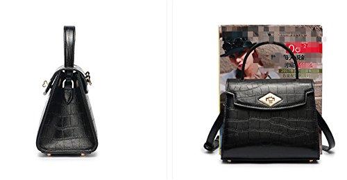 Xinmaoyuan Borse donna modello coccodrillo borsette in cuoio portatile obliqui di spallamento Croce,verde Nero