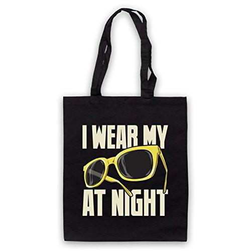 Ispirato Agli Occhiali Da Sole Hard Core Di Notte, Non Ufficiale, Le Tasche Del Mantello Sono Nere