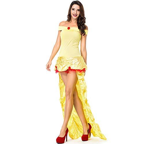 Qy Damen Halloween Kleid, Alice Im Wunderland Prinzessin Kleid, Fantasy Fairy Princess Kleid, Cosplay Kostüm, Bühnenspiel, Festival Performance (Fairy Princess Dress Up Kostüm)