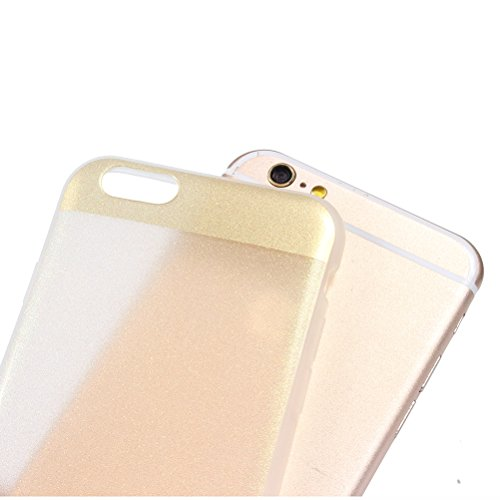 "iPhone 6 Glitzer Hülle 4.7 "", iPhone 6S Bling Bling Hülle Gold, Schick Luxus Shiny Glanz Sparkle Ultra Dünn Transparent Durchsichtig Klar Crystal Kristall Weiches Bumper Gel TPU Silikon Gummi Tasche K Gold"