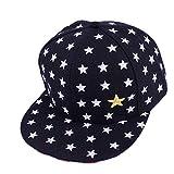Ziory 1Pcs Black Unisex-Baby New Children Star Pattern Hip Hop Baseball Cap Peaked