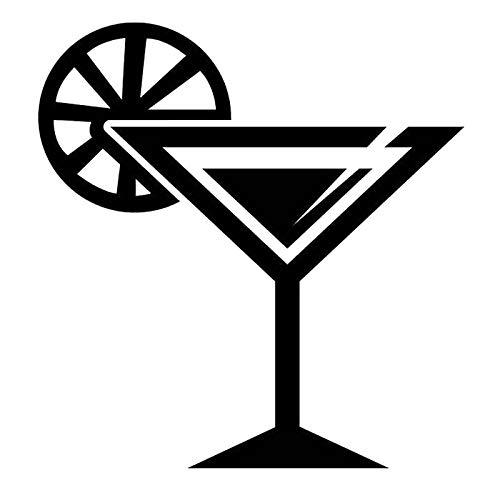 haotong11 13,9 cm * 14,5 cm Margarita Party Getränk Mode Aufkleber Aufkleber Auto Styling Vinyl Schwarz/Silber 5 stücke
