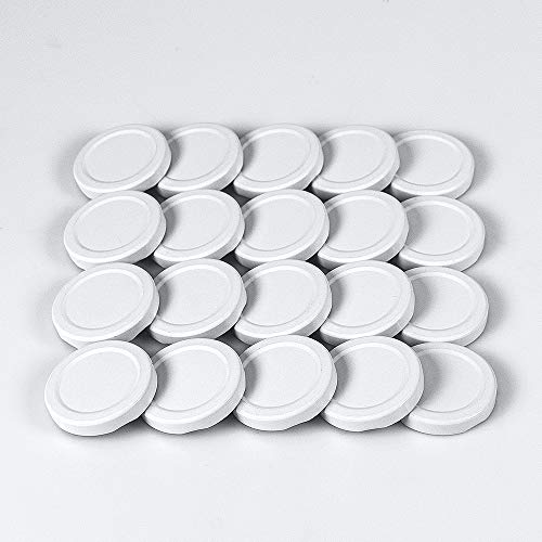 Hartmut Bauer e.K. 20 St. Twist-Off-Deckel 48 mm weiß für Glasflaschen, Milchflaschen, Saftflaschen, Einmachgläser, Marmeladengläser und Sturzgläser to 48
