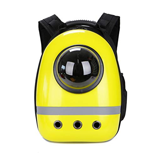 Puao portable travel pet carrier zaino, space capsule bubble design, impermeabile borsa zaino per gatto e piccolo cane