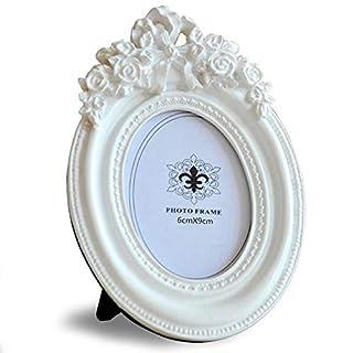 Giftgarden Bilderrahmen Weiß Oval Mini Fotorahmen Klein Hochzeit 6x9 Dekorahmen Geschenke Freunde