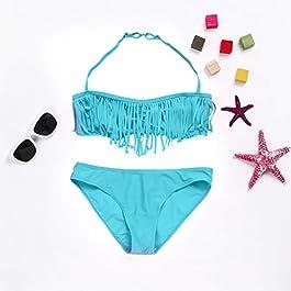 💕Costume da Bagno per Ragazza💕 Theshy Costume da Bagno Costume da Bagno per Bambina Eleganti Estate Tankini Set Vacanze Beachwear Perfetto per Mare e Piscina da Nuoto