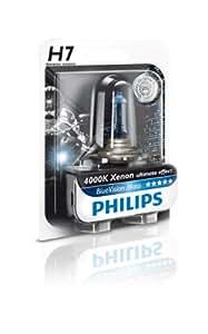 Philips 12972BVUBW Ampoule de phare de moto Blue Vision Moto H7