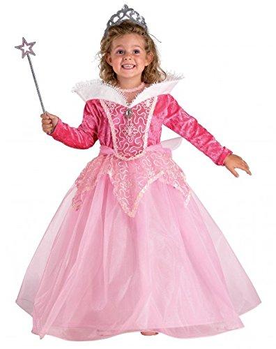 Kinderkostüm Prinzessin, rosa Prinzessin Kostüm & Tiara, Größe:104