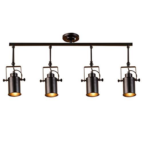 Deco Cfl (Moderne minimalistische kreative Persönlichkeit Retro American Industrial LED Deckenleuchte Schienenleuchten Strahler Deckenstrahler Vintage Lampe Schwenkbar Deckenspot Einstellbare Flexible Leuchte)