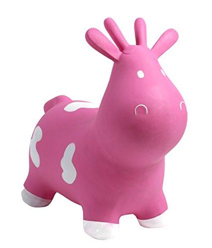 Happy Hopperz - Vaca, Color Rosa (HHZ01B)