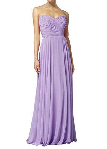 1f0547f5b4cf HWAN Frauen eine Linie Schatz Lange Kleid Brautjungfer Abendkleider Lavendel