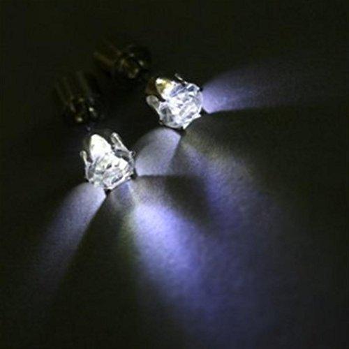 LED Ohrringe Leucht Ohrstecker Ohrringe wei? leuchtende Ohringe mit Licht