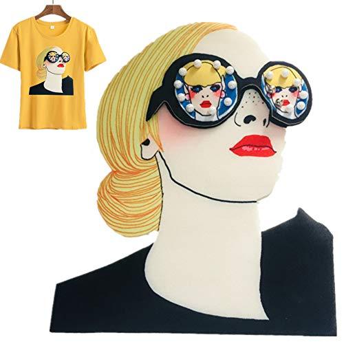 Girl Kostüm Astronaut - KAIKUN Patches Zum Aufbügeln Girl Patch Für Kleidung Kleiderfabrik Patches Wandleuchte Jeans Eisen Auf Blumen Applique T-Shirt Hochzeit Annähen Für Patches